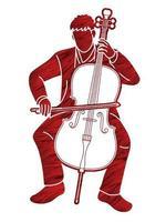 violonchelo músico orquesta vector