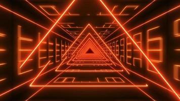 boucle vj de néons triangulaires video
