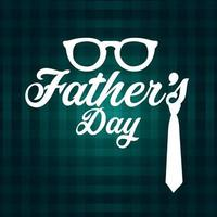 Happy fathers day invitation greeting card vector