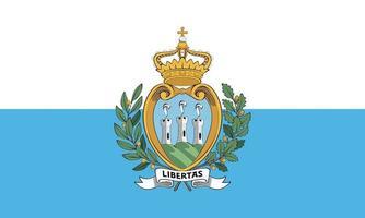 Vector illustration of the flag of San Marino