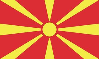 Vectorial illustration of the flag of the Republic of Macedonia vector