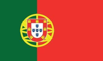 ilustración vectorial de la bandera de portugal vector