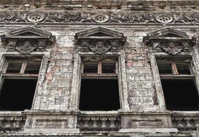 Old abandoned house in Ukraine photo