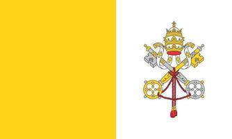Vectorial illustration of the Vatican City flag vector