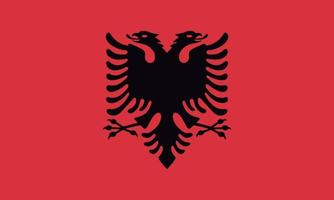 Vectorial illustration of the Albanian flag vector