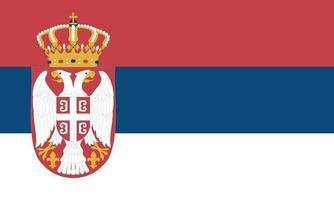 Vectorial illustration of the Serbian flag vector