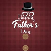 Flat design of happy fathers day invitation  greeting card vector