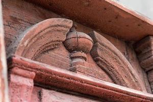 Vintage wood decor close up photo