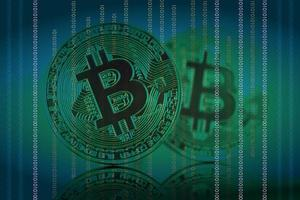 Moneda de criptomoneda, fondo de dinero de moneda digital foto