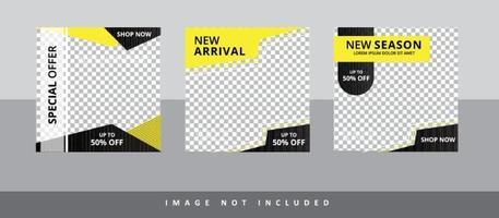 social media sale banner set vector