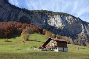 Scenic view of the Swiss Alps photo