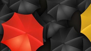 Fashion umbrellas background video