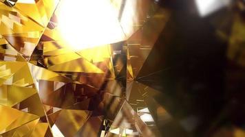 fond de cristal abstrait video