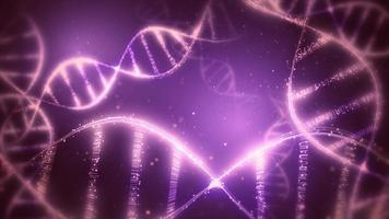 Abstract dna strand background video