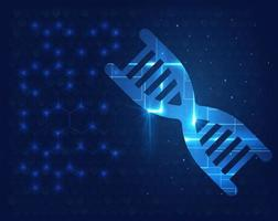 Human DNA Molecule Background Science Shining Design Template vector