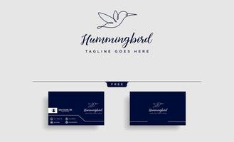 flying humming bird line art logo template vector icon element isolated