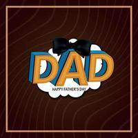 Happy Father's Day Greeting Text vector