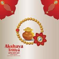 Indian festival akshaya tritiya vector illustration of gold jewelry