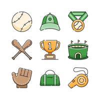 Softball Icon Set Design vector
