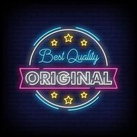 Best Quality Original Neon Signs Style Text Vector