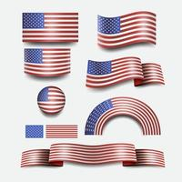 American Flag and design USA button flag vector