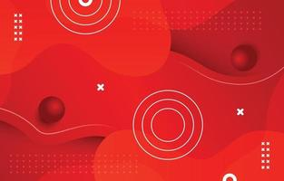 Abstract Red Wavy Background vector