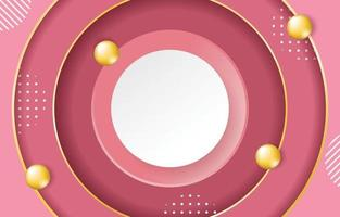 fondo rosa con un círculo en el medio vector