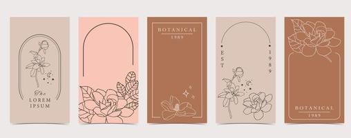 lindo fondo para redes sociales con flor de magnolia vector