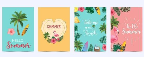 Collection of summer sale background vector