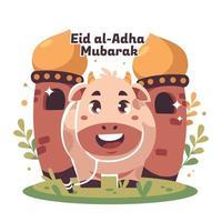 Smiling Cow on Eid Al Adha vector