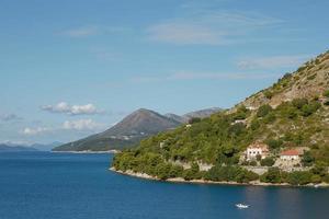 Residential area on coasline of Dubrovnik Croatia photo