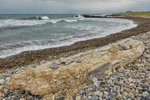 Playa y paisaje cerca de la ciudad de Skagen en Dinamarca foto