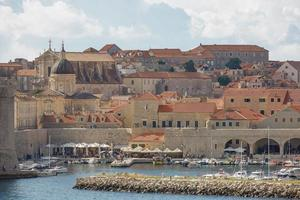 The bay and Old Town of Dubrovnik Croatia photo