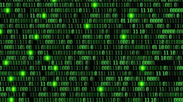 Abstract binary code background video
