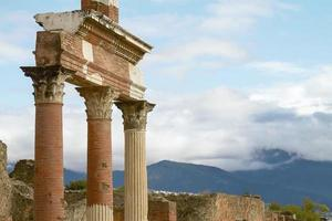 Ruins and Remains of the city of Pompeii Italy photo