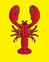 Lobster Top View Vector