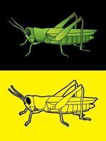 Grasshopper Side View vector