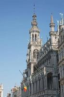 The Grand Place at the main square in Brussels in Belgium during summer photo
