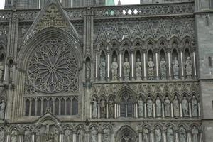 Detail of the Nidaros Cathedral in the center of the city Trondheim in Norway photo