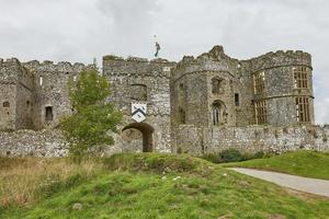 Carew Castle in Pembrokeshire Wales England UK photo