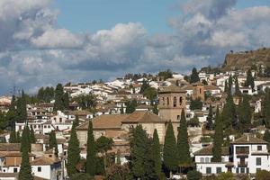 Ancient arabic fortress of Alhambra Granada Spain photo