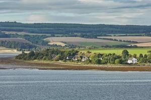 Seascape and landscape of Invergordon in Scotland UK photo