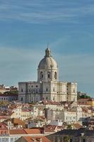 View of national pantheon and cityline of Alfama in Lisbon Portugal photo
