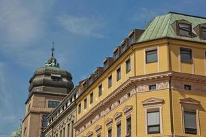 Old architecture in downtown center part of Oslo in Norway photo