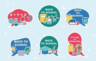 Education Sticker Set vector