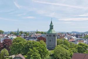 The Valberg tower overlooking town of Stavanger in Norway photo