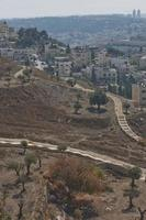 View of Holy city of Jerusalem in Israel from the Mount of Olives photo