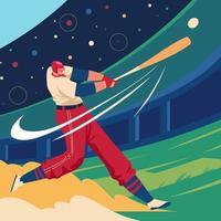 Softball Game Player vector