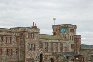 View of Bamburgh Castle in Northumberland England UK photo