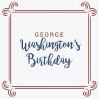 Vector illustration of a Background for George Washingtons Birthday